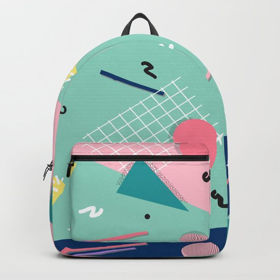 Dreaming 80s Pattern #society6 #decor #buyart Backpack