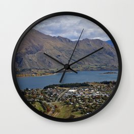 Mountains by the Lake Wall Clock