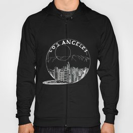 Los Angeles in a glass bowl on blue background Hoody