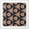 Till All Are One II - Hexagonal Abstract Repeating Pattern by rmlstudios