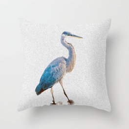 Blue Heron Silhouette Throw Pillow