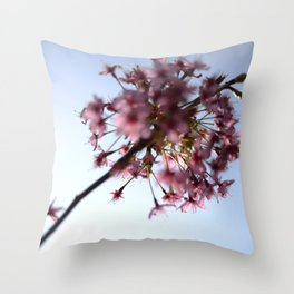 Pink Apple Blossom Throw Pillow