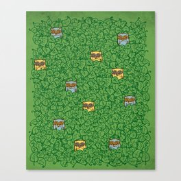 Little Leafy Friends Canvas Print