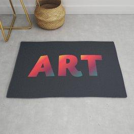 Art, minimalist typography, minimalist illustration, colorful, inspiring wall ar, inspirational word Rug