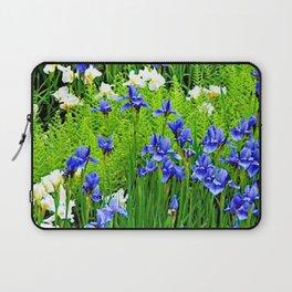 BLUE & WHITE  IRIS FLOWER GARDEN Laptop Sleeve