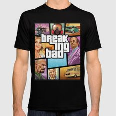 Breaking Bad: GTA  Black Mens Fitted Tee LARGE