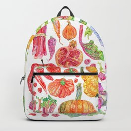 Rainbow of Fruits and Vegetables Backpack