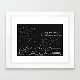 keep rolling under the stars Framed Art Print
