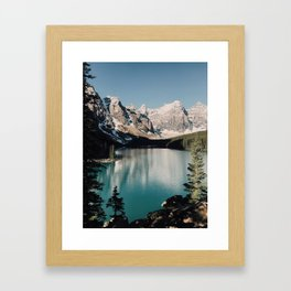 Moraine Lake Morning Framed Art Print