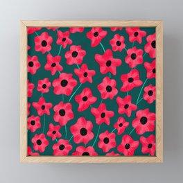 Poppies' field Framed Mini Art Print