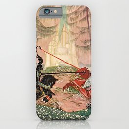 """A Knightly Joust"" by Thomas Mackenzie iPhone Case"