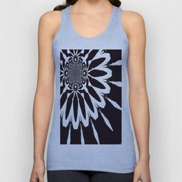 The Modern Flower Black & White Unisex Tank Top