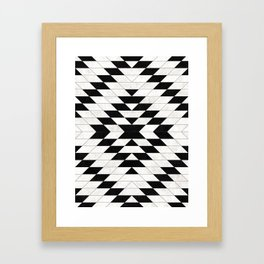 Urban Tribal Pattern No.15 - Aztec - White Concrete Framed Art Print