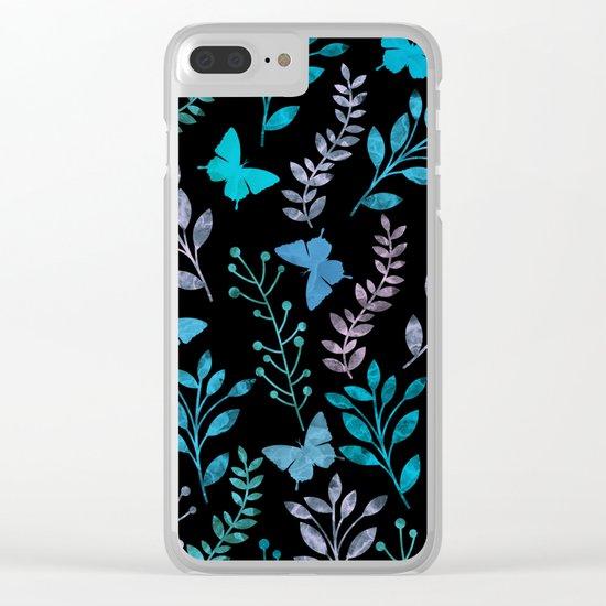 Watercolor flowers & butterflies II Clear iPhone Case