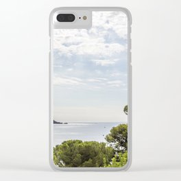 Seacoast near Le Lavandou and Bormes-les-Mimosas in French Riviera Clear iPhone Case