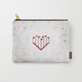 Music Heart gray Carry-All Pouch