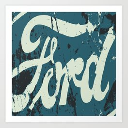 Car Old Sign Art Print