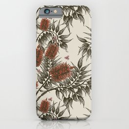 Bees in the bottle brush iPhone Case