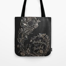 Nevertheless She Persisted Gold Tote Bag