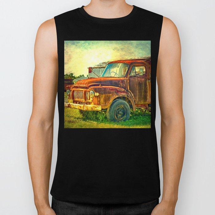 Old Rusty Bedford Truck Biker Tank