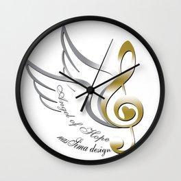 Angel of Hope Wings Wall Clock
