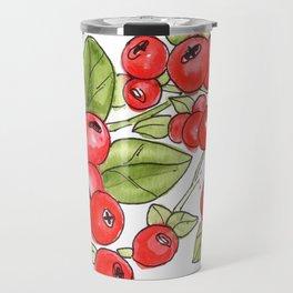 Cranberry Vines Travel Mug
