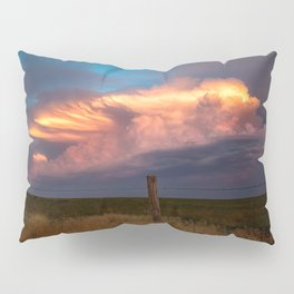 Dreamy - Storm Cloud Drenched in Sunlight at Dusk in Western Oklahoma Pillow Sham