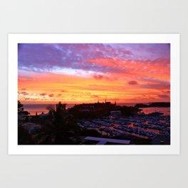 Sunset in New Caledonia Art Print