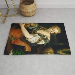 """Veronese (Paolo Caliari) """"Judith with the Head of Holophernes"""" Rug"""