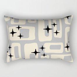 Retro Mid Century Modern Abstract Pattern 576 Gray Black Rectangular Pillow