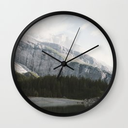 Airy Mountain Lake - Landscape Photography Wall Clock