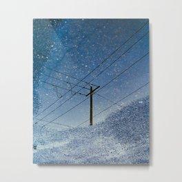 Crosswire reflection Metal Print