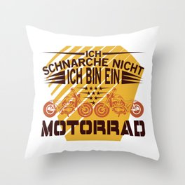 Motorcycle humor gift father's day Throw Pillow