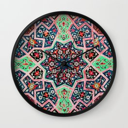 V16 Special Colored Traditional Moroccan Design. Wall Clock