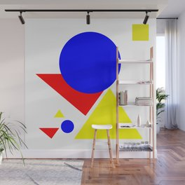 Bauhaus geometric shapes modern art Wall Mural