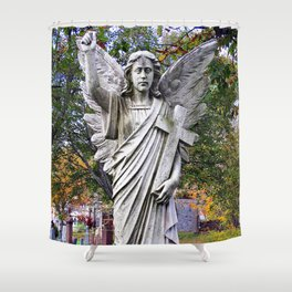 Angel with a Cross Shower Curtain