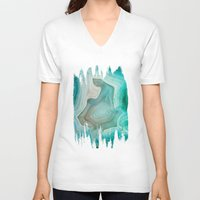 sand V-neck T-shirts featuring THE BEAUTY OF MINERALS 2 by Catspaws