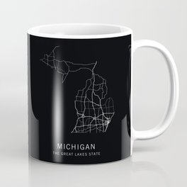 Michigan State Road Map Coffee Mug
