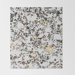 Gold Speckled Terrazzo Throw Blanket