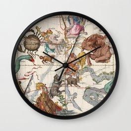 Vintage Constellation Map - Star Atlas Wall Clock