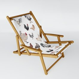 Chicken Happy (white) Sling Chair