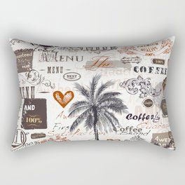 Retro label pattern Rectangular Pillow