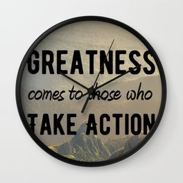 Motivational Poster - Take Action! Wall Clock