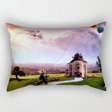Babar en su reino remontando un barrilete Rectangular Pillow