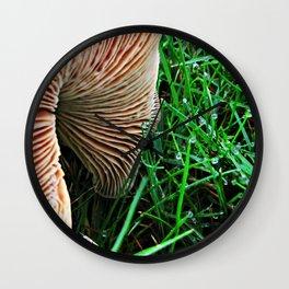 Mushroom and Dewdrops Wall Clock