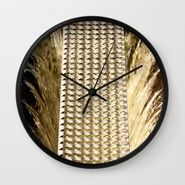 Water and iron Wall Clock