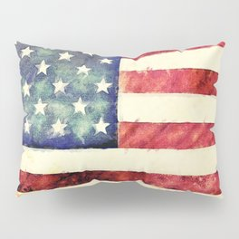 Vintage American Flag Pillow Sham