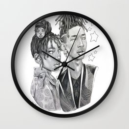 Willow and Jaden - Siblings at the Met Gala Wall Clock