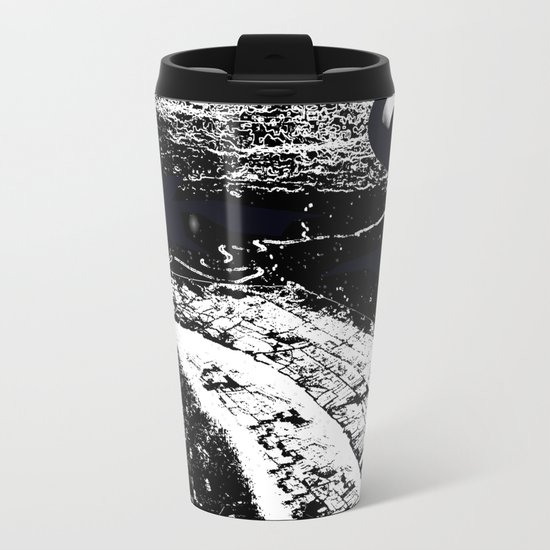 Midnight Over The Mouth Of The Mekong Metal Travel Mug
