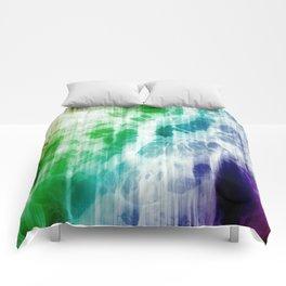 Retro, Boho Chic Tye-Dye Pattern Comforters